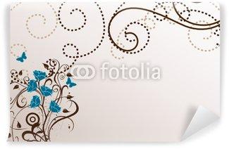 Papier Peint Vinyle Arabesques bleu