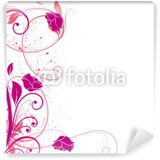 Papier Peint Vinyle Arabesques roses