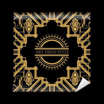 papier peint art deco cadre d coratif vintage carte retro design vector temp rature pixers. Black Bedroom Furniture Sets. Home Design Ideas