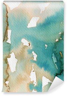 Papier Peint Vinyle Artistique de fond aquarelle sur papier aquarelle