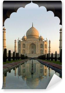 Papier Peint Vinyle Aube au Taj Mahal - Agra - Inde