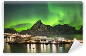 Papier Peint Vinyle Aurore boréale en Norvège