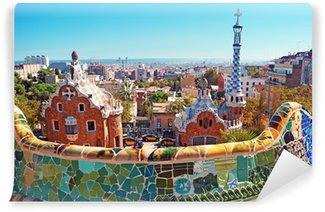 Papier Peint Autocollant Toits colorés de Barcelone