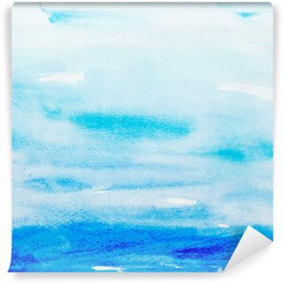 Papier Peint Autocollant Touches de couleurs aquarelle art peinture