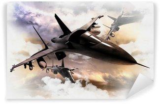 Papier Peint Vinyle Avions de combat en action