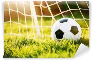 Papier Peint Vinyle Ballon de football dans le but