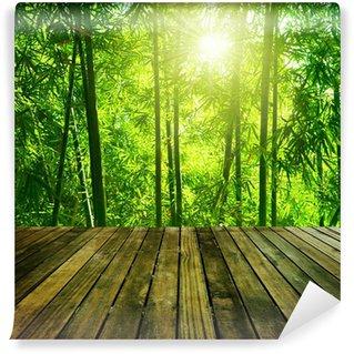 Papier Peint Vinyle Bambou foret