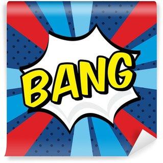 Papier Peint Vinyle Bang comics icône