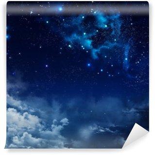 Papier Peint Vinyle Beau fond de ciel de nuit avec les étoiles