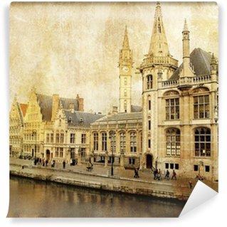 Papier Peint Vinyle Belgique - Gent - Photo de style rétro
