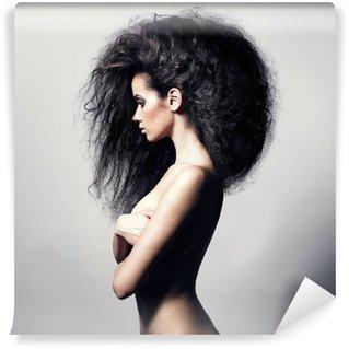 Papier Peint Vinyle Belle femme aux cheveux magnifique