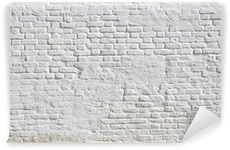 Papier Peint Vinyle Blanc plâtré mur de briques