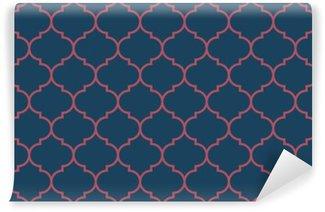Papier Peint Vinyle Bleu et bordeaux large vecteur sombre Seamless pattern moroccan