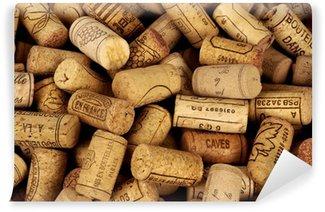Papier Peint Vinyle Bouchons de bouteilles de vin
