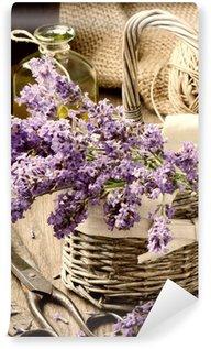 Papier Peint Vinyle Bouquet de lavande fraîchement coupée