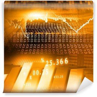 Papier Peint Vinyle Bourse graphique et des affaires Bar Graphique
