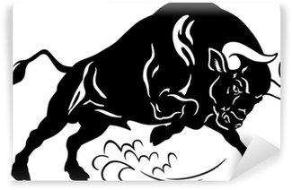 Papier Peint Vinyle Bull noir-blanc