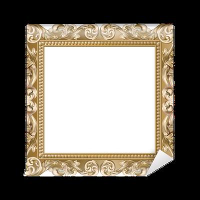 papier peint cadre baroque carr dor pixers nous vivons pour changer. Black Bedroom Furniture Sets. Home Design Ideas