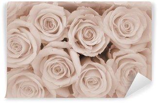 Papier Peint Vinyle Carte de sympathie roses fond ...
