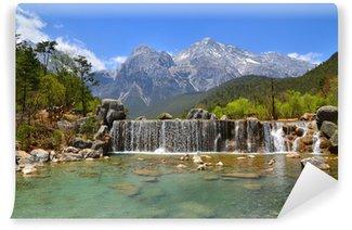 Papier Peint Vinyle Cascades de montagnes alpines