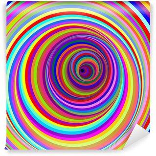 Papier Peint Vinyle Cerchi Ipnotici-hypnotiques psychédéliques Circles-Vector
