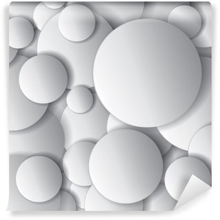 Papier Peint Vinyle Cercles vectoriels, des objets minimaux, la composition de conception abstraite vecteur