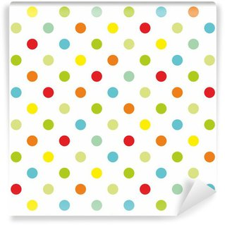 Papier Peint Vinyle Colorful pois fond blanc de modèle vectoriel transparente