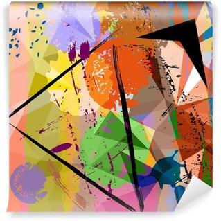 Papier Peint Vinyle Composition abstraite de fond, avec des coups et des éclaboussures