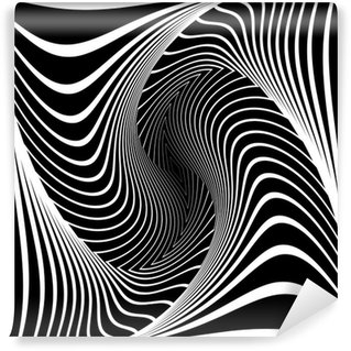 Papier Peint Vinyle Conception monochrome vortex mouvement sur fond d'illusion