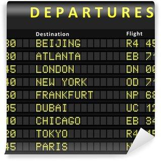 Papier Peint Vinyle Conseil de départ avec des vols vers Beijing, Atlanta, Londres, Dubaï