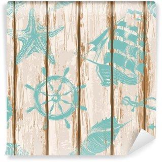 Papier Peint Vinyle Conseils de pont du navire seamless