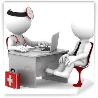 Papier Peint Vinyle Consultation médicale. Médecin et le patient à parler au bureau