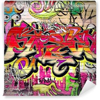 Papier Peint Vinyle Contexte Graffiti Art Vecteur
