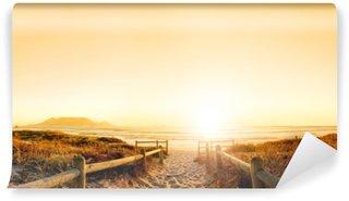 Papier Peint Vinyle Coucher de soleil sur l'océan