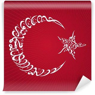 Papier Peint Vinyle Croissant-Star Calligraphie