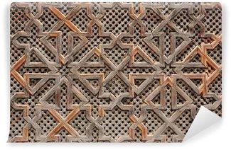 Papier Peint Vinyle Décoration orientale en bois au Maroc