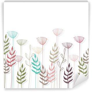 Papier Peint Vinyle Décorations en fleur au fond