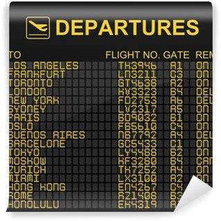 Papier Peint Vinyle Départs de l'aéroport international Conseil