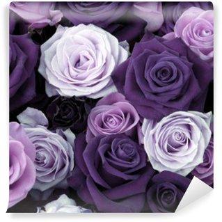 Papier Peint Vinyle Différentes couleurs de roses