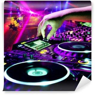 Papier Peint Vinyle Dj mixe la piste