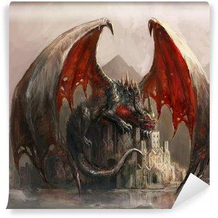 Papier Peint Vinyle Dragon Castle