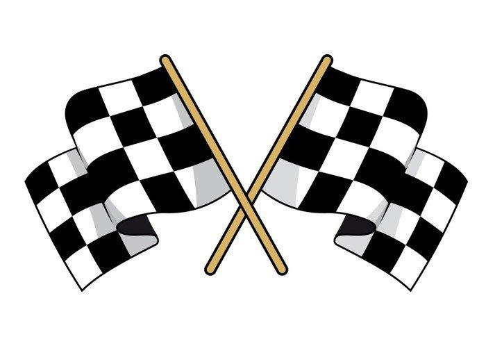 papier peint vinyle drapeaux à damier noir et blanc croisés