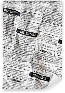 Papier Peint Vinyle Du papier journal froissé