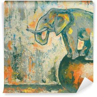 Papier Peint Vinyle Elefant
