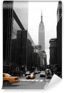 Papier Peint Vinyle Emipre State Building et le jaune, Manhattan, New York
