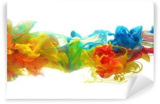 Papier Peint Vinyle Encre colorée dans l'eau