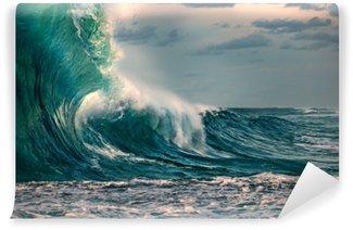 Papier Peint Vinyle Énorme vague de l'océan au cours d'une tempête