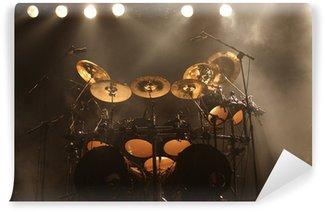 Papier Peint Vinyle Ensemble de tambours sur scène