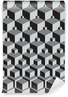 Papier Peint Vinyle Escher inspiré empiler des cubes art
