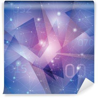 Papier Peint Vinyle Espace arrière-plan, les surfaces géométriques, des lignes et des points,